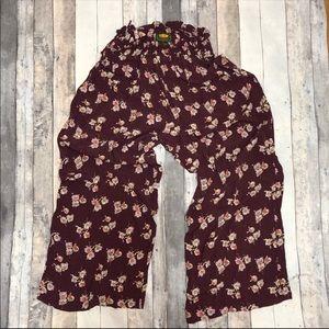 Free People Floral Pants  Vintage Women's Large
